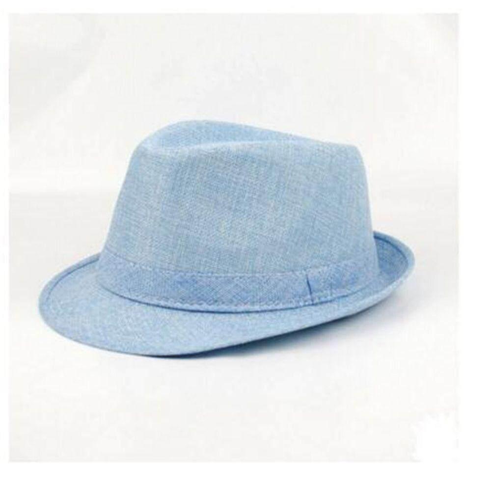 Detail Gambar Trilby Jazz Fedora Trilby Musim Panas Topi Gangster Topi  Panama Topi Gangster (Hitam 9d0546bfb3