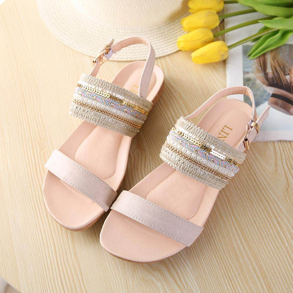 46d6fe8b6a692c chinastorenie Women Bohemia Slippers Flip Flops Flat Sandals Toe Beach  Gladiator Ankle Shoes