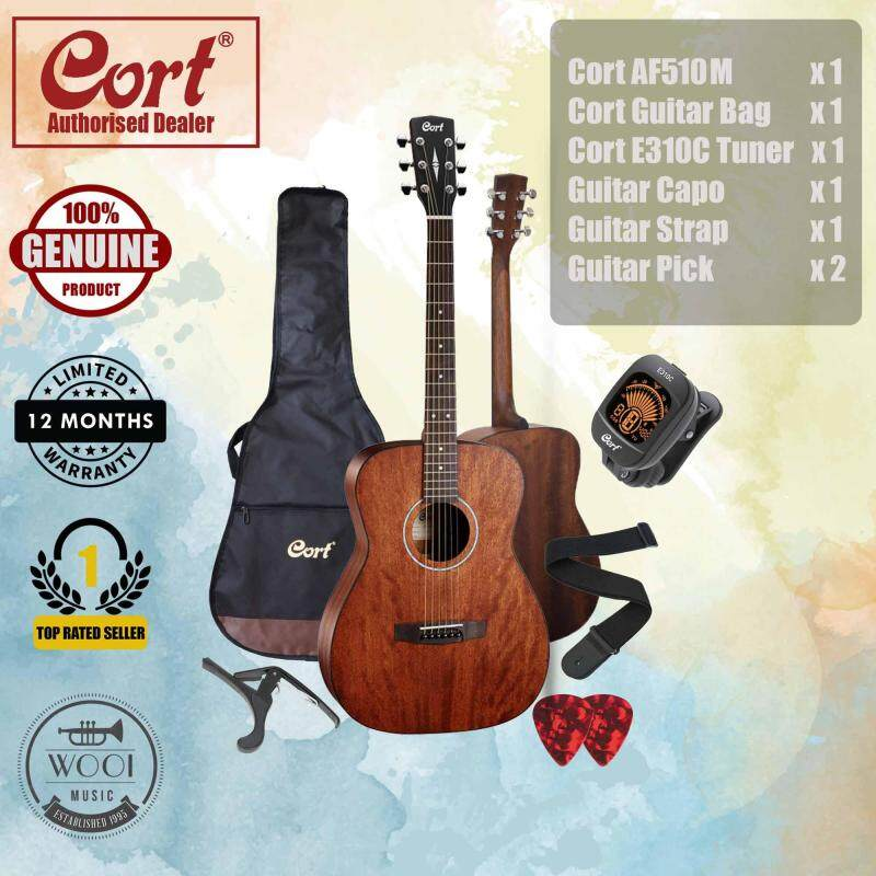 Cort AF510M Acoustic Guitar 40 (Concert) FREE Cort Bag, Cort Tuner, Capo, Strap & Pick Malaysia