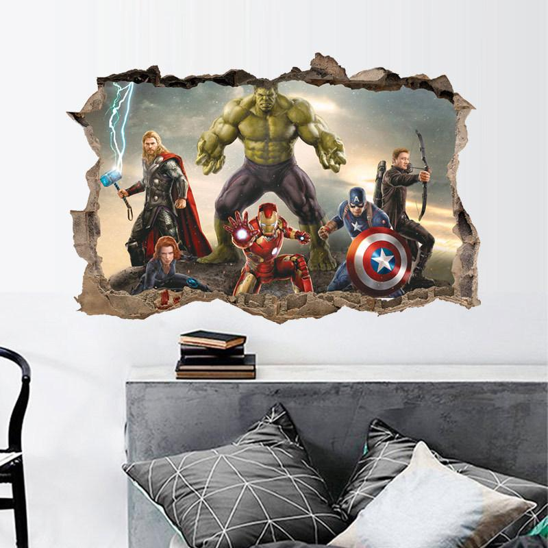 Detail Gambar The Incredible HULK Wall Sticker Vinyl Art Home Kids Boy  Bedroom Poster Thor Nursery Decor Decal Terbaru