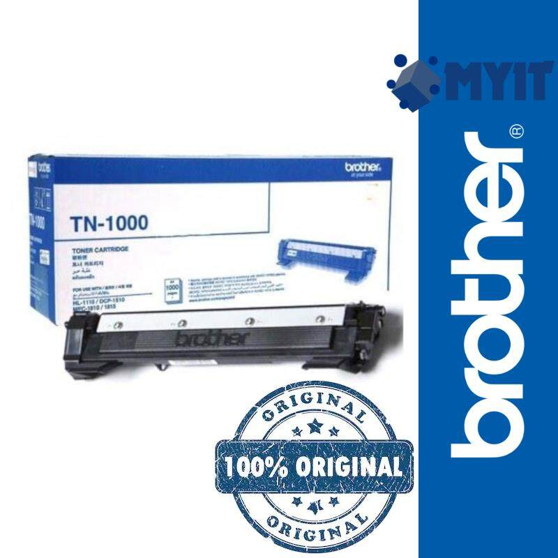 Brother Original TN-1000 Mono Laser Toner Cartridge for HHL-1110 HL-1200 HL-1210W DCP-1510 DCP-1600 DCP-1610W DCP-1615W MFC-1810 MFC-1815 MFC-1900 MFC-1905 MFC-1910W MFC-1915W Monochrome TN1000