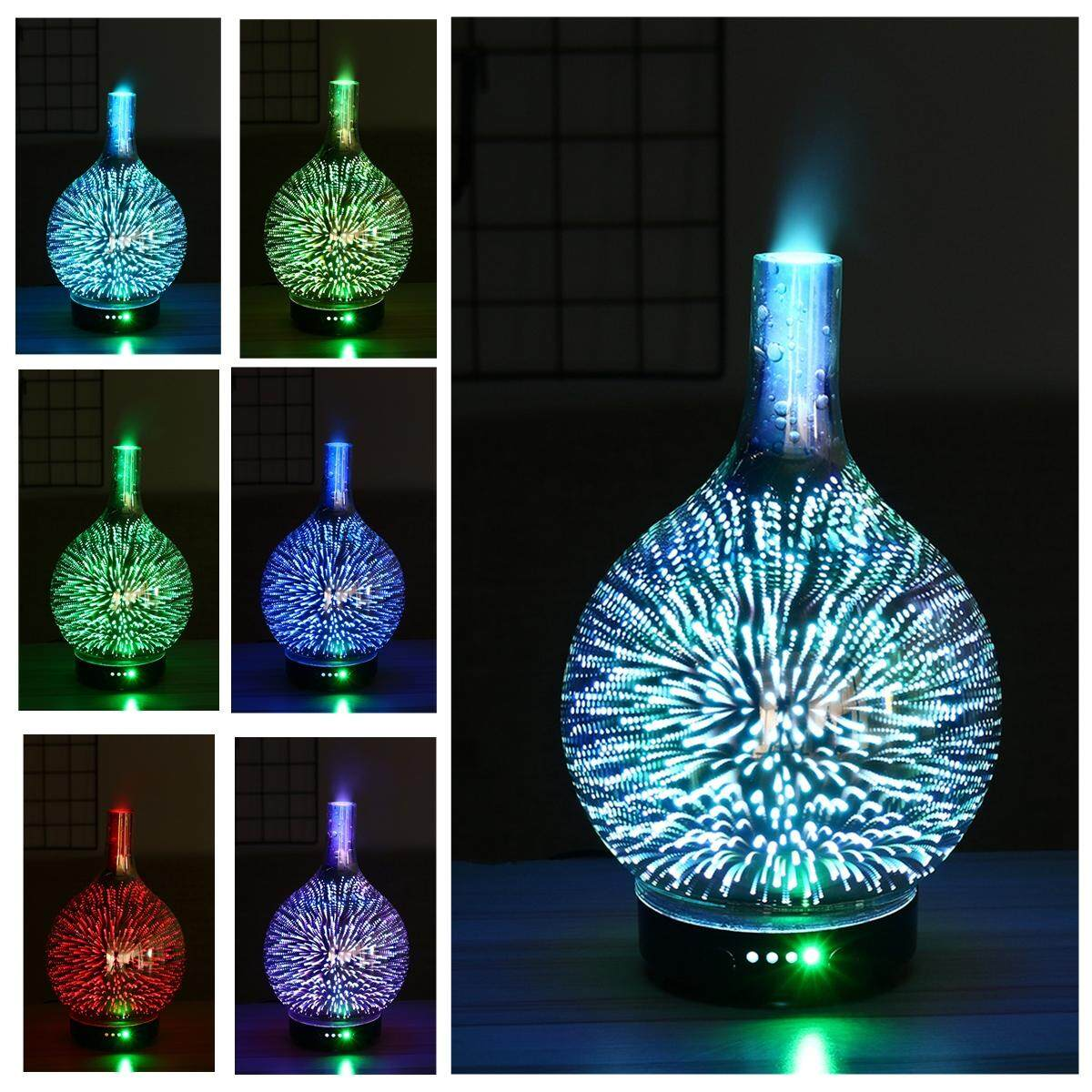 LED Light Aroma Diffuser Mist Humidifier Essence Aromatherapy Home Night Lamp