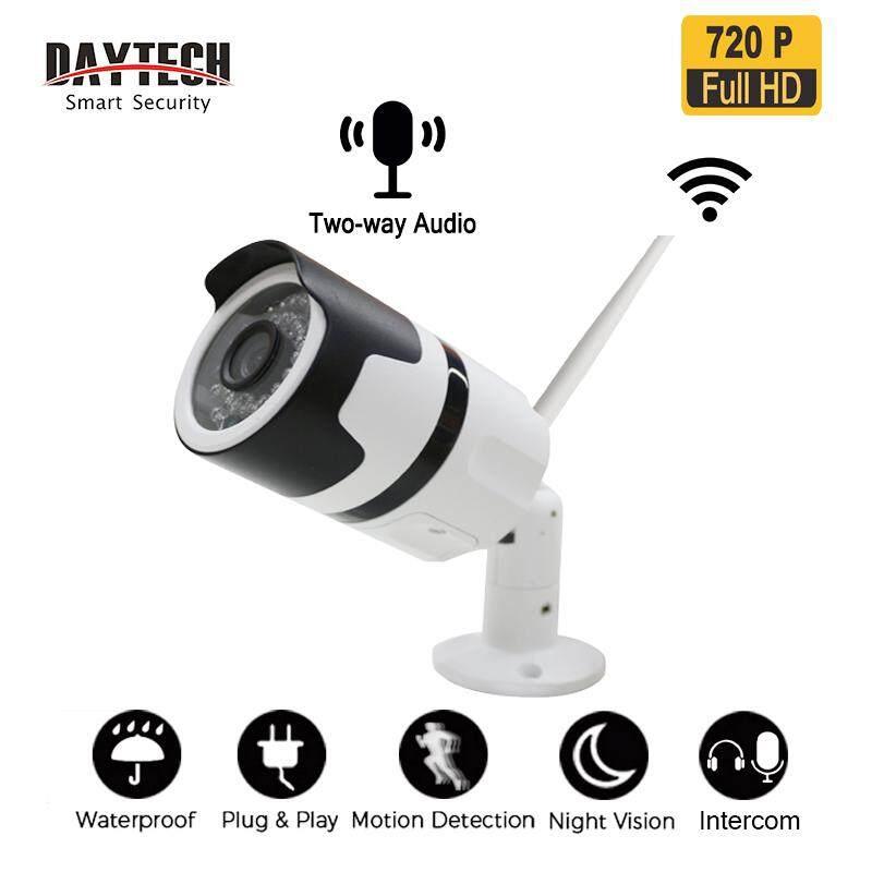 Daytech Outdoor Cctv Kamera Ip 720 P/1080 P Wifi Tanpa Kabel Hd Kamera Pemantau Keamanan Kamera Keamanan Tahan Air Dua Arah Audio Modus Malam By Daytech Official Store.
