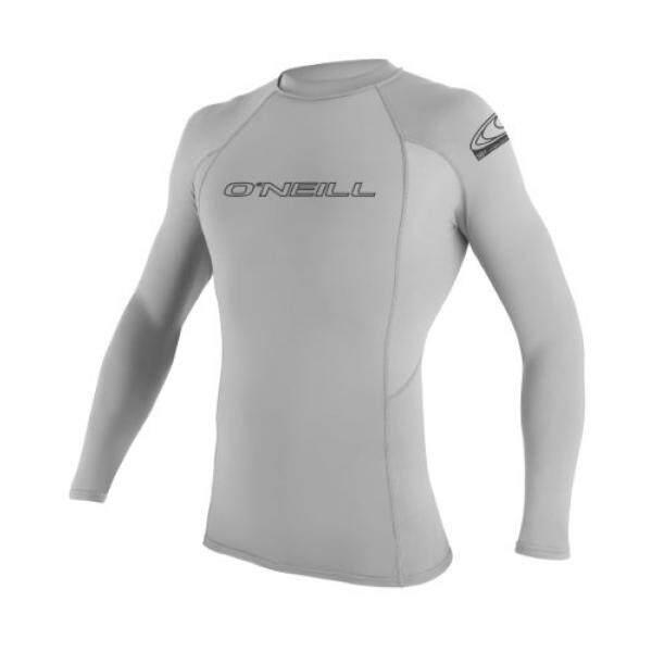 ONeill Mens Basic Skins UPF 50+ Long Sleeve Rash Guard, Lunar, - intl