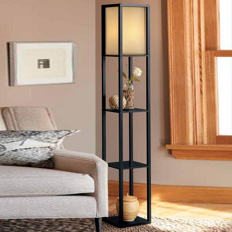 Simple Modern Solid Wood Floor Lamp Living Room Lamp 4 Color Bedroom Bedside Lamp 160cm High Floor Lamp Suitable for Living Room