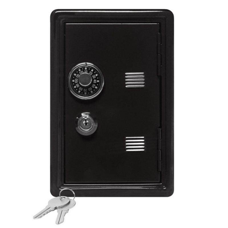 New Safe Security Metal Money Bank Deposit Cash Savings Saving Box 2 Keys By The First Store.