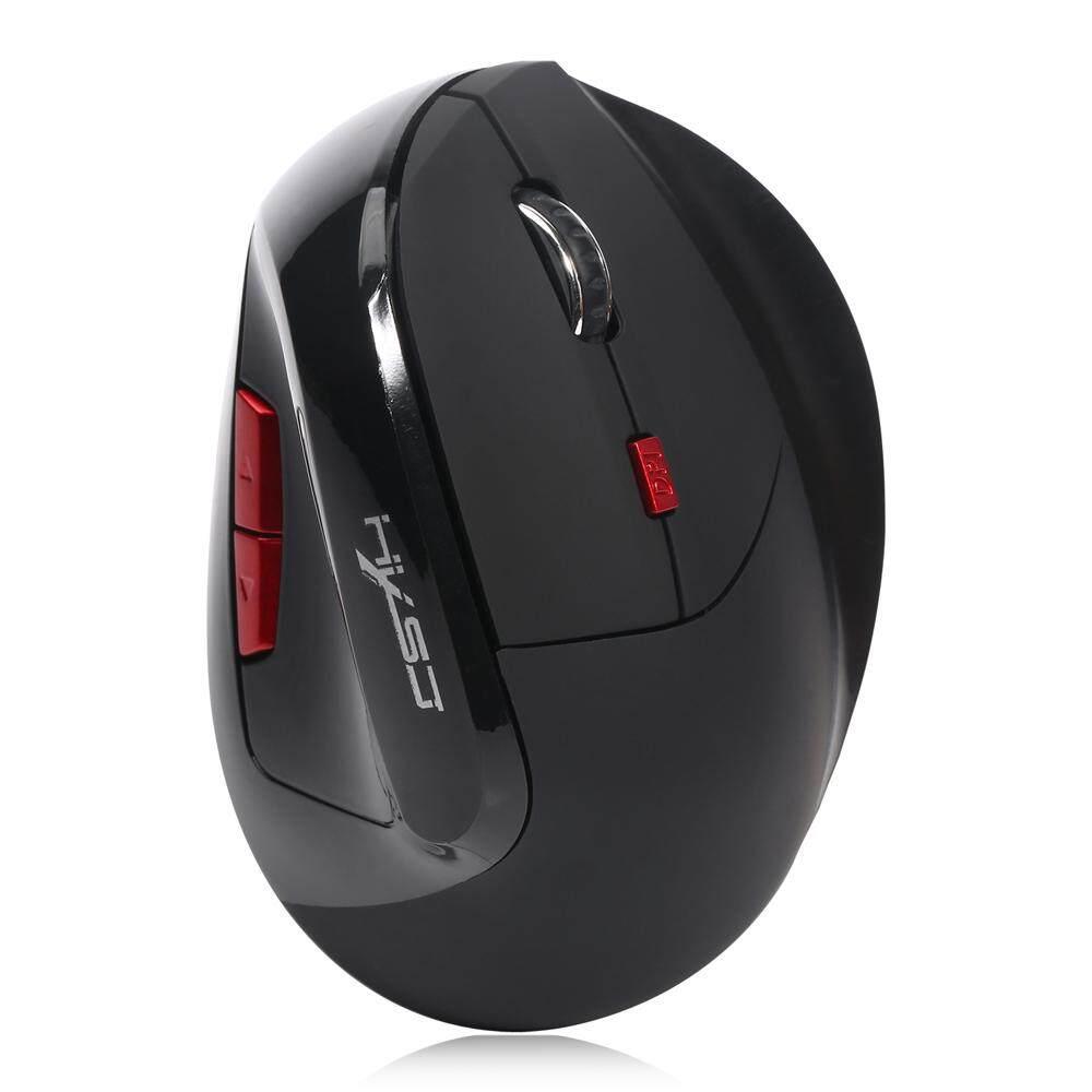 HXSJ X60 6D Wireless Gaming Ergonomic Design Optical Vertical 2400DPI Mouse Malaysia