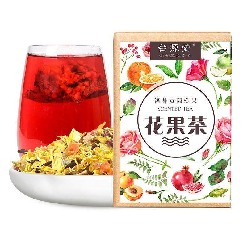 Taiyuan Hall Bunga Buah Tea 60G Dingin Gelembung Teh Buah Roselle Krisan Oranye Kulit Passion Fruit Segitiga Teh Bag-60g -Internasional