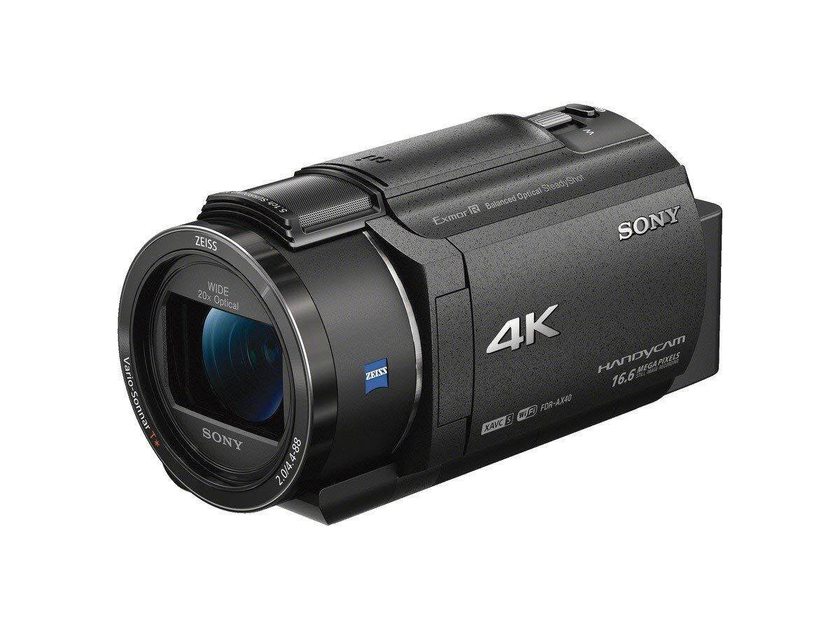 SONY 4K video camera Handycam 20x optical FDR-AX40-B Black