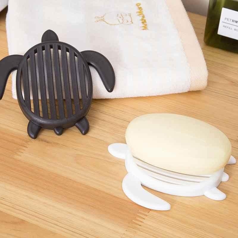 Wuli【buy 1 Mendapatkan 1free】tortoise Bentuk Plastik Pengering Sabun Rak Pemegang Rak untuk