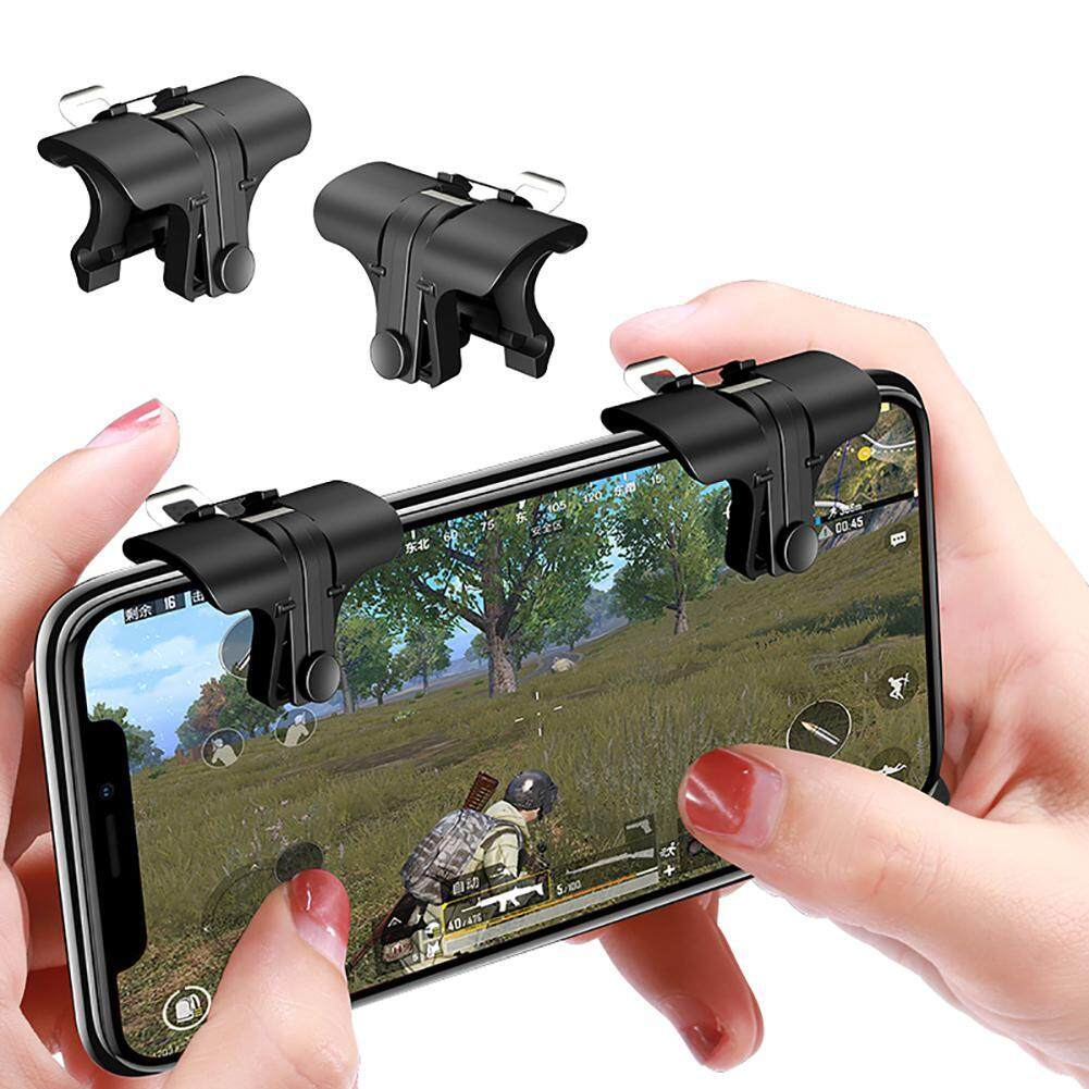 Leegoal Mobile Game Joystick, Sensitive Copper Gaming Induction Shoot And Aim Controller Buttons For Pubg/l1r1/rules Of Survival, 1 Pair By Leegoal.