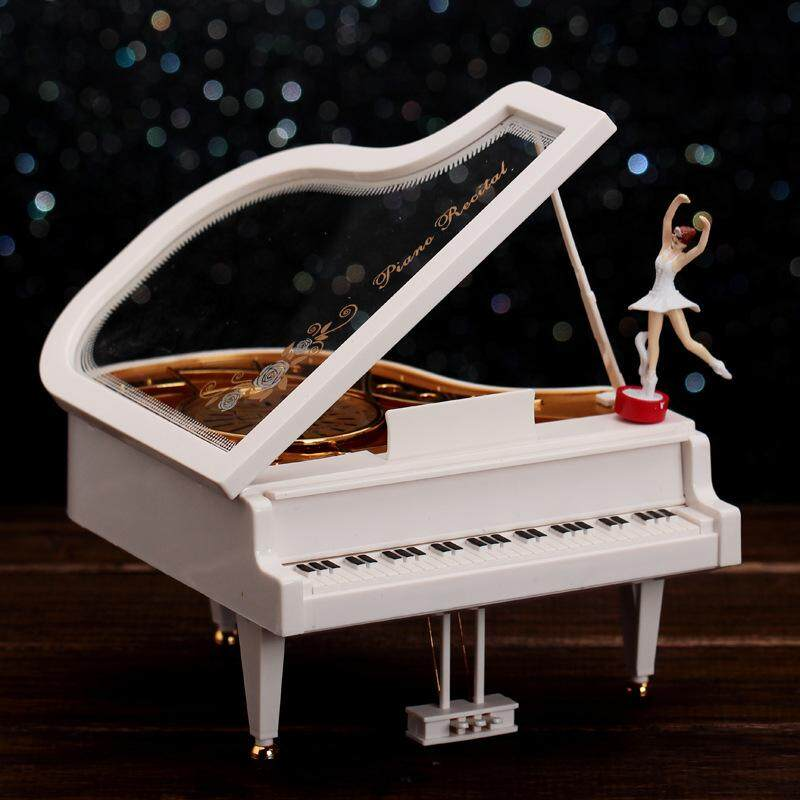 Jayoyi Vintage music box Baby grand piano Ballet Gril shape Christmas music Box Toy