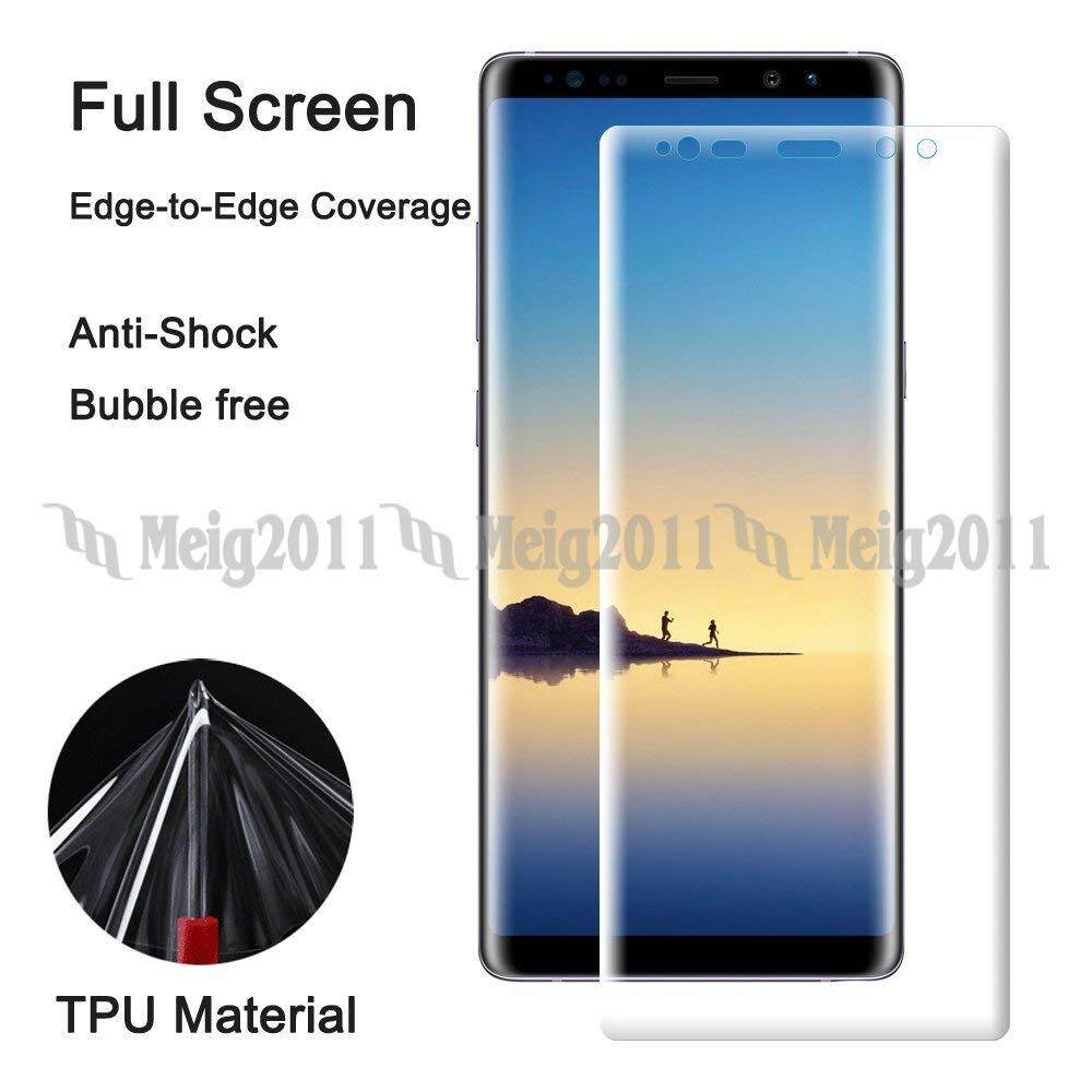 Full Cover Soft TPU Screen Protector Film for Samsung Galaxy Note 8, SM-N950U N950U1 N950W N950N N950J N950F N950F/DS N950FD N950D N9500 N9508 SGH-N473
