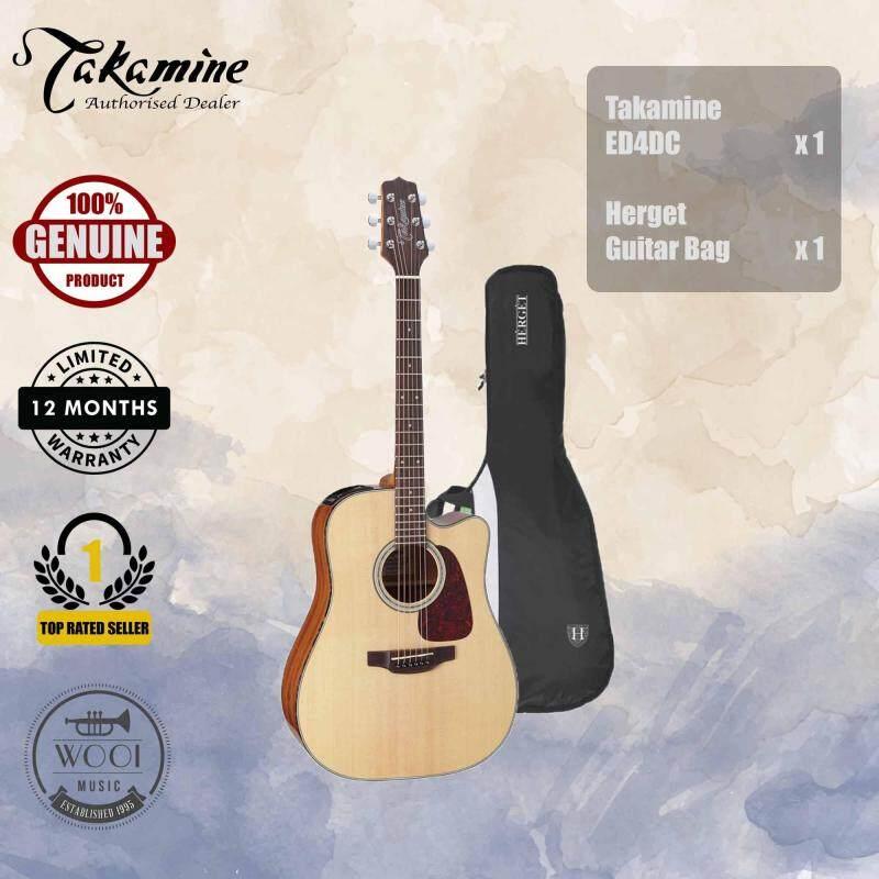 Takamine ED4DC Semi Acoustic Guitar 41 (Auditorium) FREE Bag Malaysia