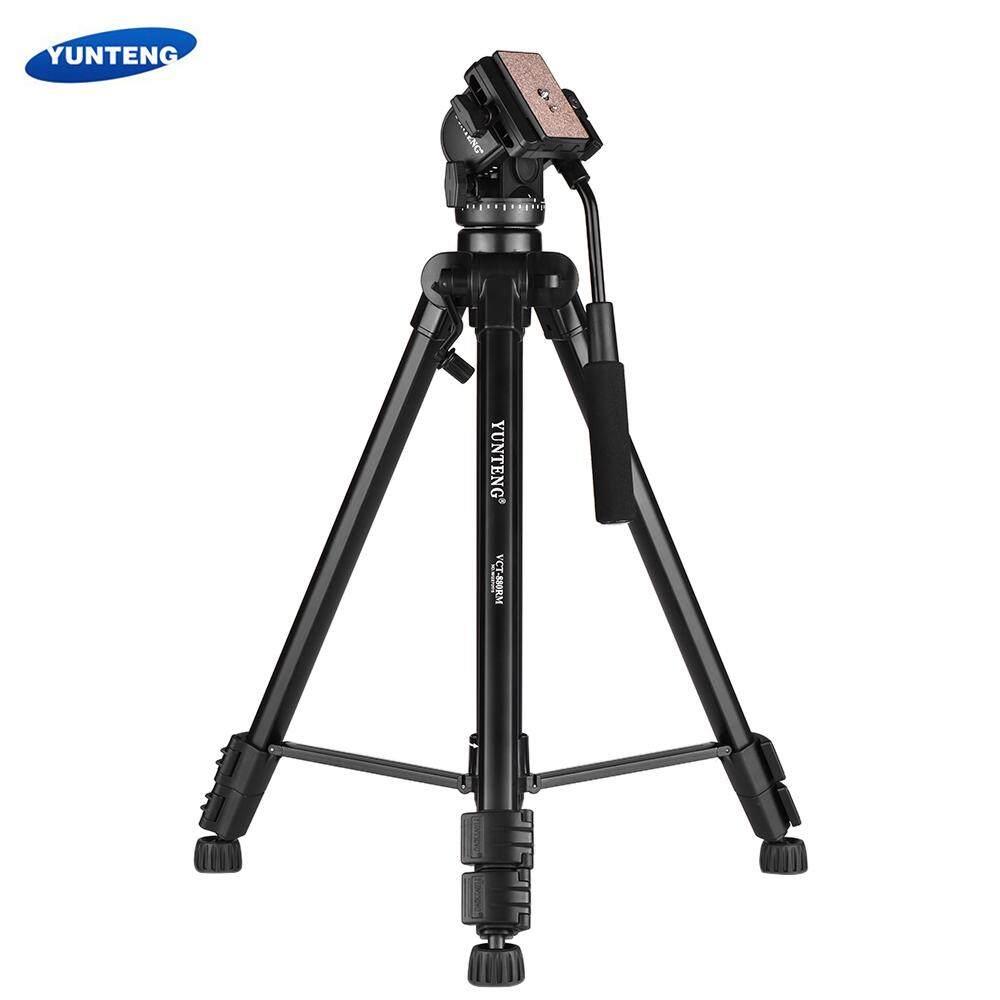 Yunteng VCT-880 Portabel Aluminium Paduan Tripod 3-bagian Teleskop dengan 2-Cara Peredaman Bola Kepala untuk Canon Nikon sony DSLR Kamera Perekam Maksimum Kapasitas Beban 5Kg-Internasional