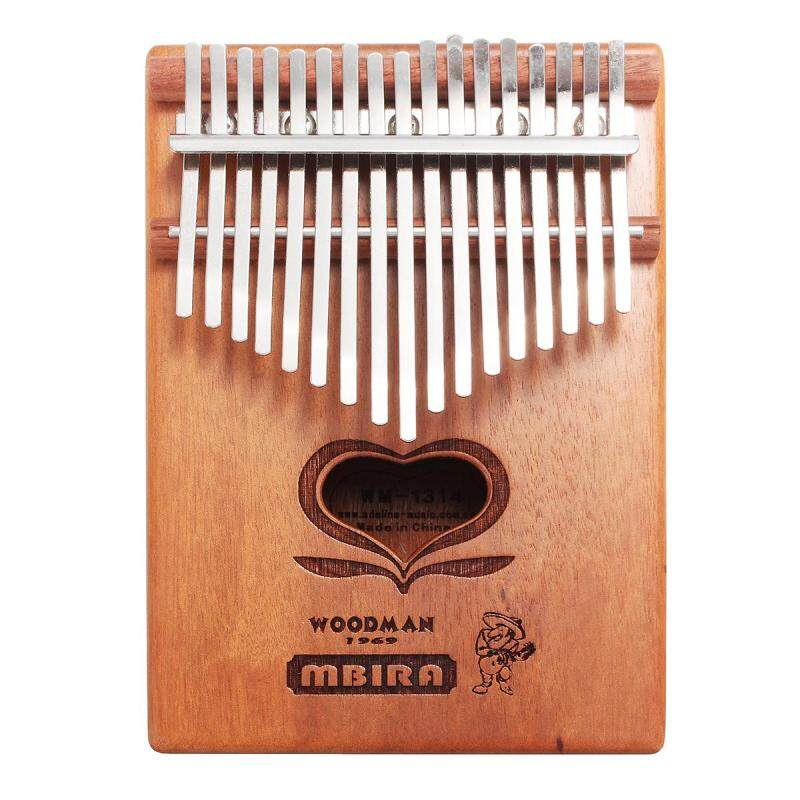 17 Keys Kalimba African Solid Mahogany Wood Thumb Piano Finger Percussion - intl
