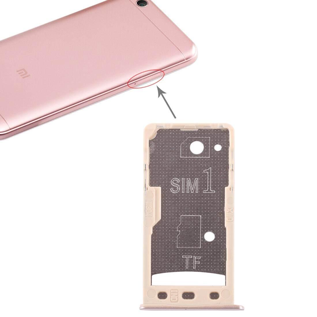 2 Kartu SIM/Micro Tray SD Card untuk Xiaomi Redmi 5A (Emas)