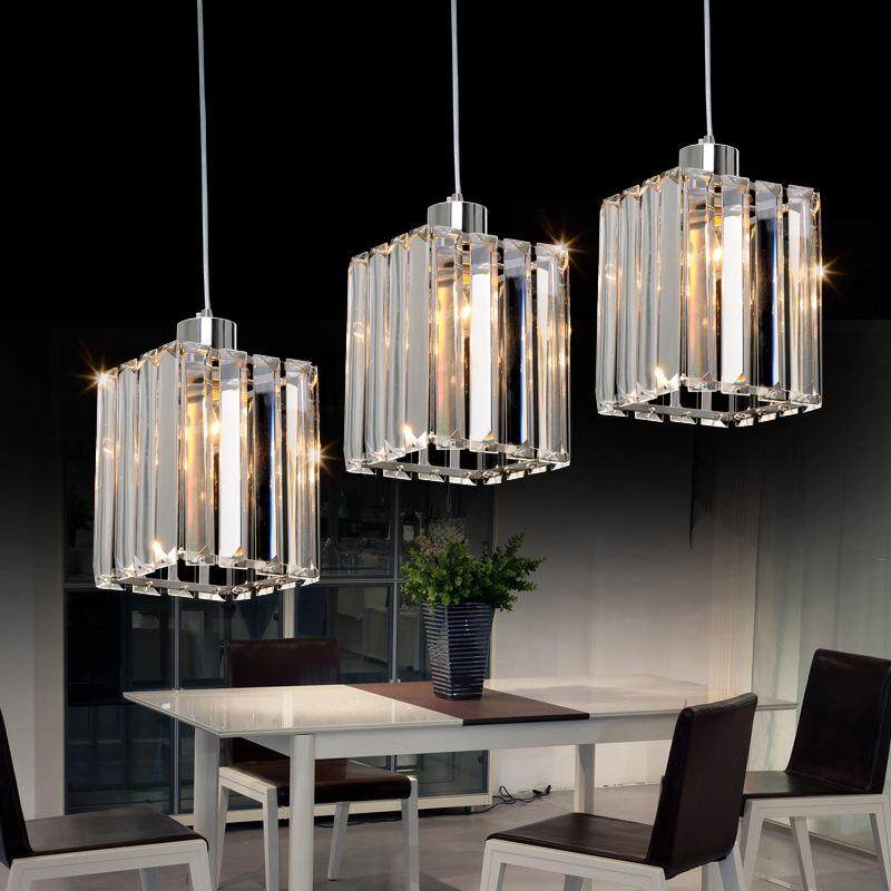 fashion crystal restaurant chandelier bar lamp corridor lighting 3 heads pendant light aisle lamp ceiling lamp