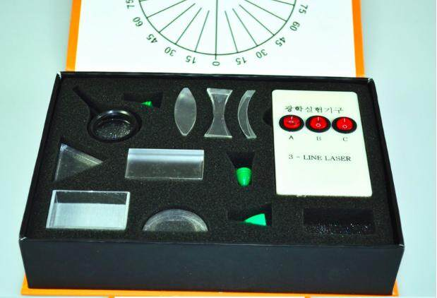 Optika Fisik Rangkaian Eksperimen Prisma Segitiga Lampu Laser Cekung Cembung Lensa Set Anak Hadiah Mainan Peralatan Sains-Intl