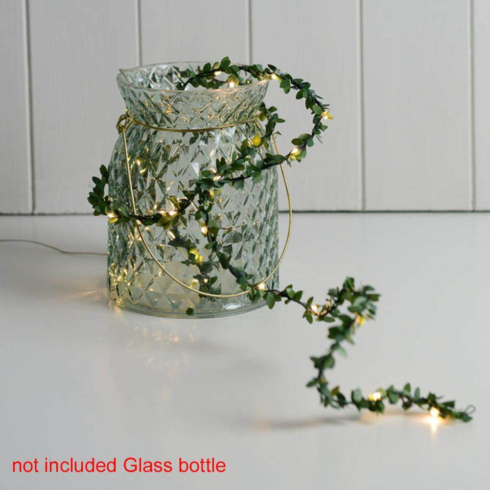 Led Artificial Vine String Lights Decorative Wedding Party Green Leaf Festival Singapore