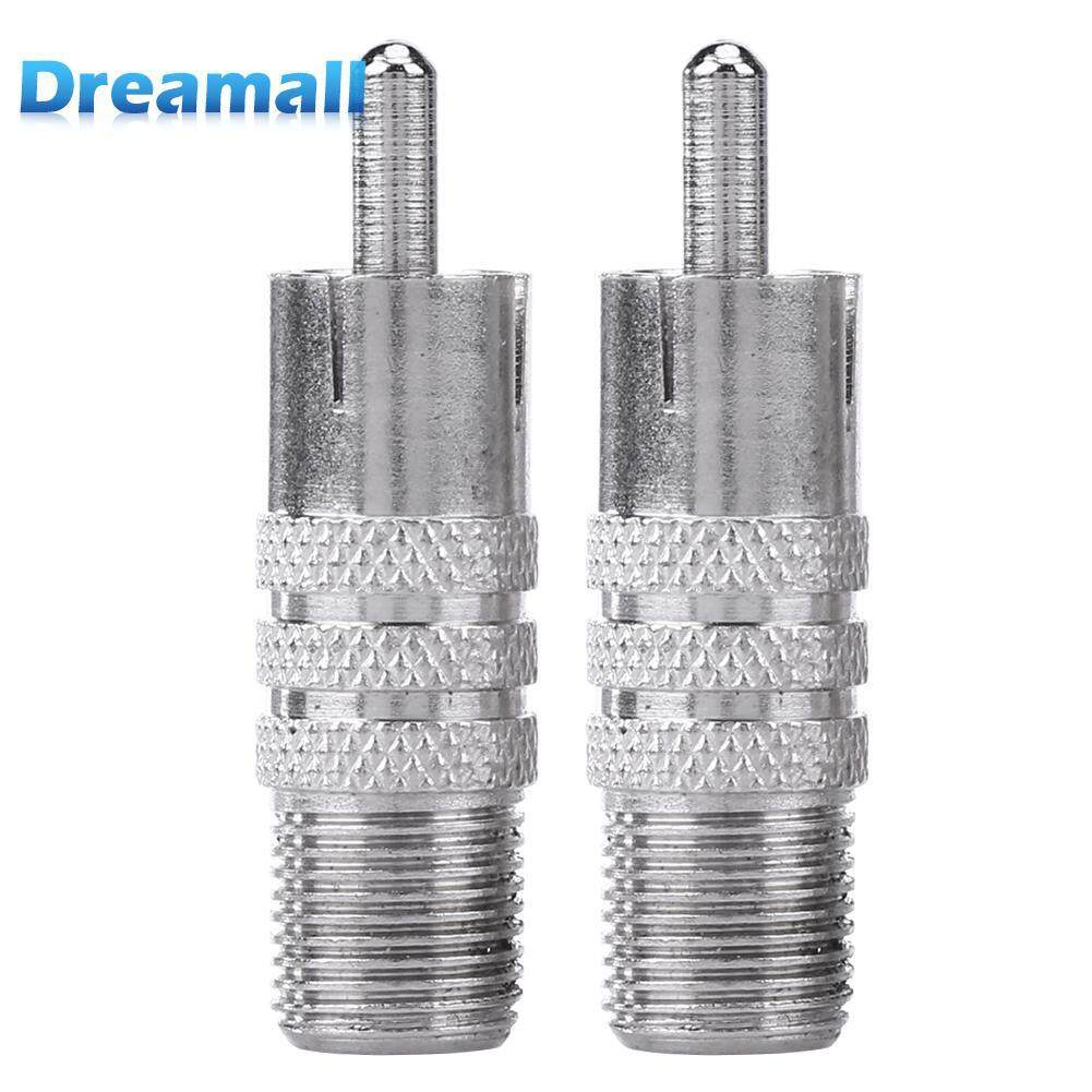 Audew Gold Plated Rca Phono Splitter Plug 1 Male To 2 Femal Audio Y Mic Promotionshop For Promotional Mono On Aliexpress Wiring Xlr 2pcs F Female Coax Jack Adapter Connector Cable Coupler