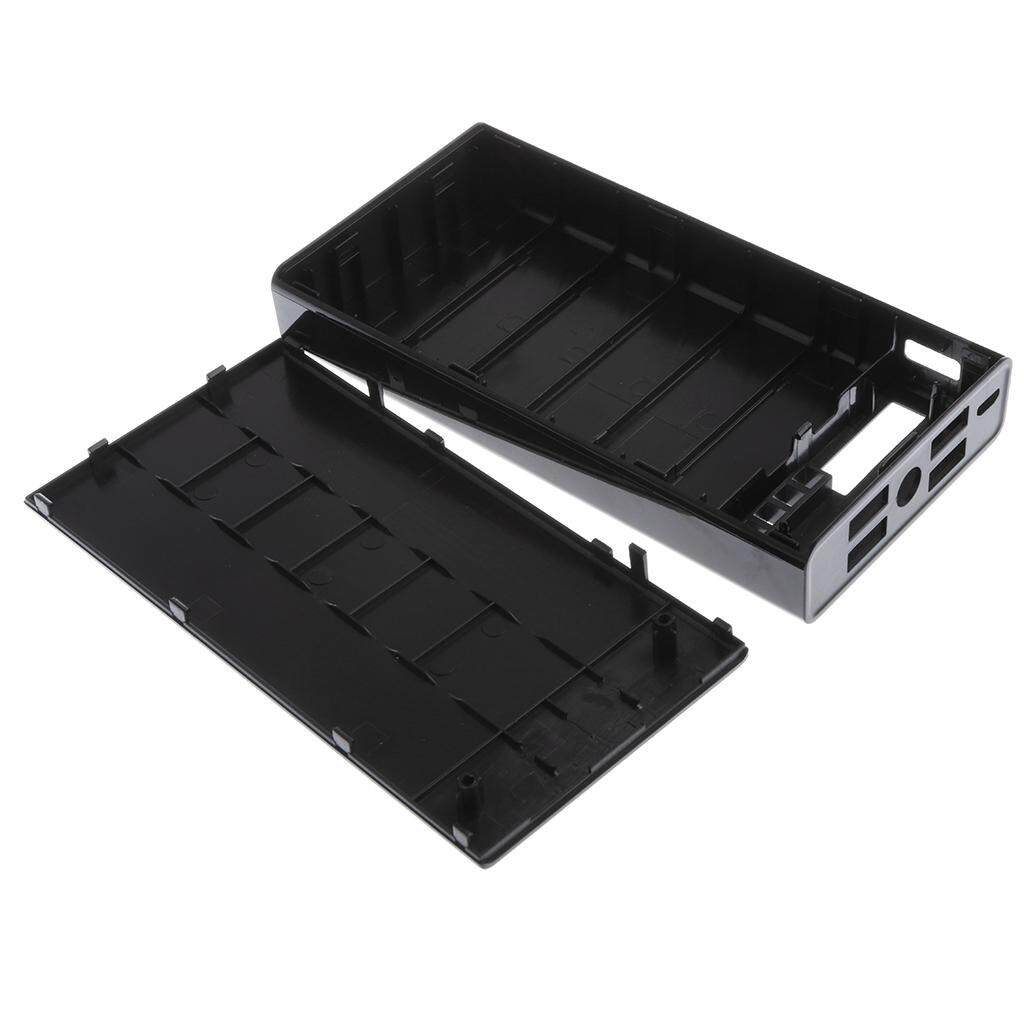 Taffware Diy Exchangeable Cell Power Bank Case For 2pcs 18650 Black Console Powerbank 2x Casing Modul Kosongan Enclousure Shell Pcb Miracle Shining 4port Usb Mobile Charger 6x Battery