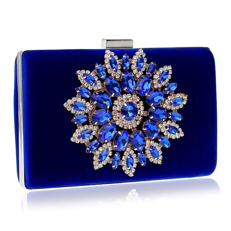 YINGMI Women Evening Bags Rhinestones Flower Diamonds Evening Bags For Wedding Party Diamonds Evening Bags For Party