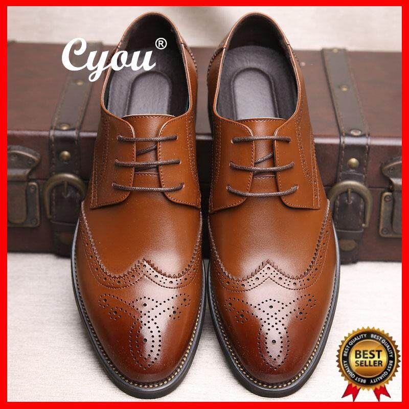 0aa75cb730ab CYOU New Arrivals Top Quality Luxurious Geniune Leather Shoes Men s Formal  Shoes Dress Shoes Business Office