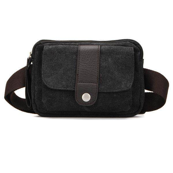 Mens Multifuntion Canvas Waist Bag Crossbody Messenger Bag By Glimmer.