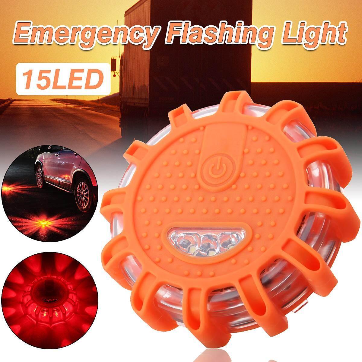 Otomatis 15 LED Sepanjang Beacon Darurat Strobe Berkedip Lampu Peringatan Keselamatan Mobil Oranye-Internasional