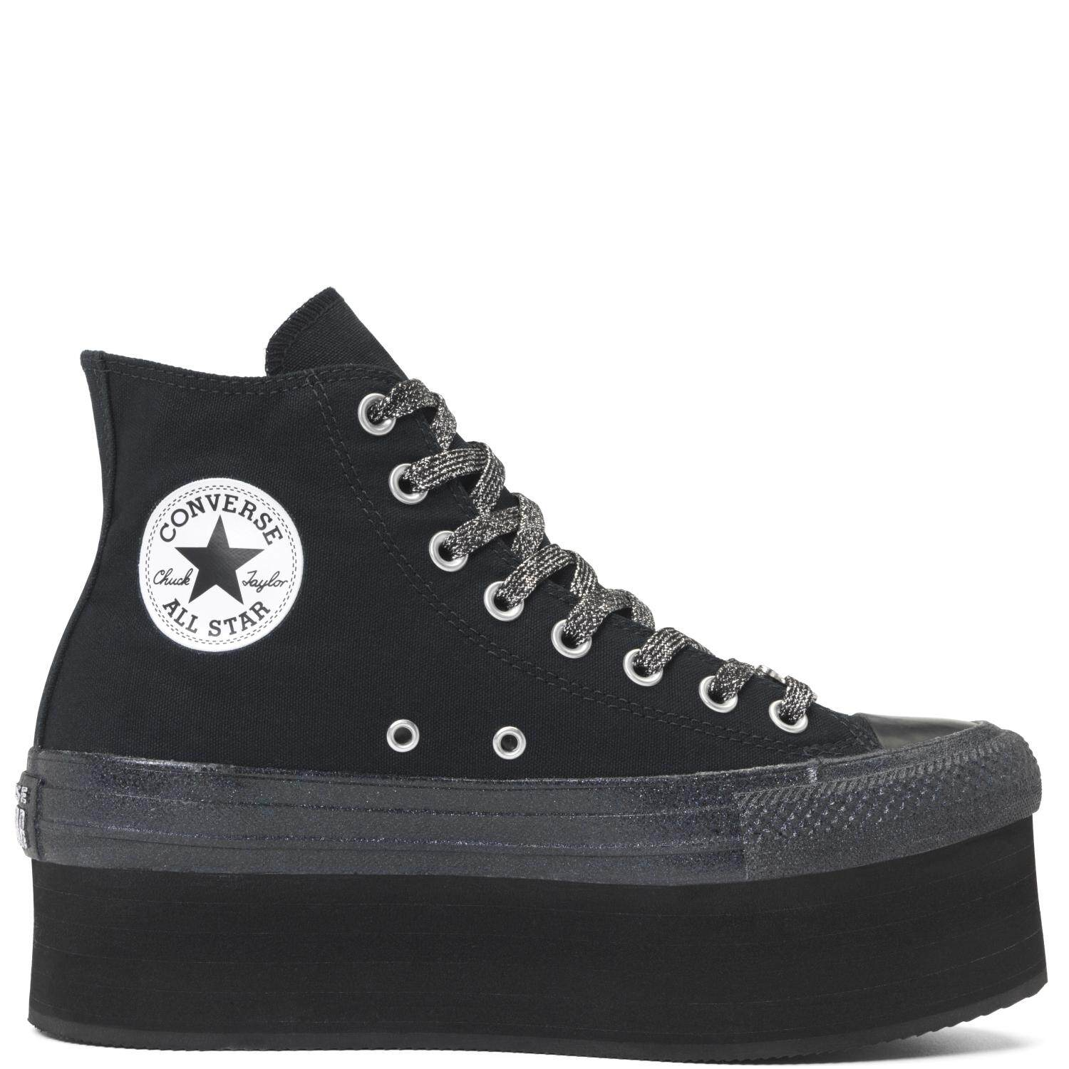 Designers Converse All Star Hi Platform Black/Egret For Women Selling Well
