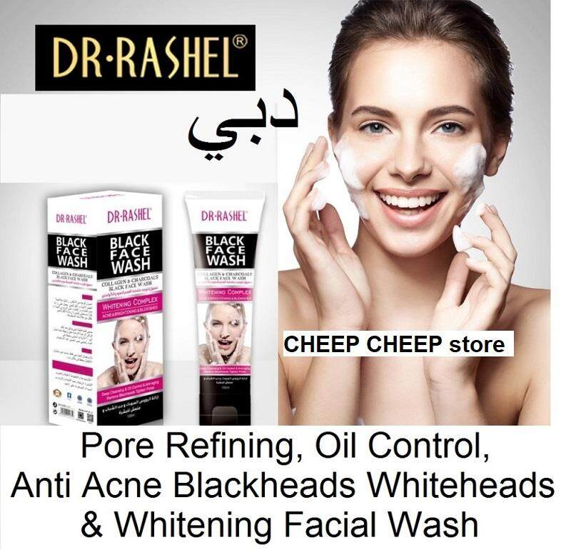Dr Rashel ??? Black Facial Wash with Whitening Complex for Acne Blemishes & Brightening  100ml