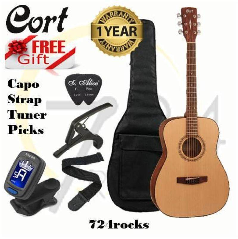 Cort AF505 Open Pore Natural Standard Series Acoustic Guitar Malaysia