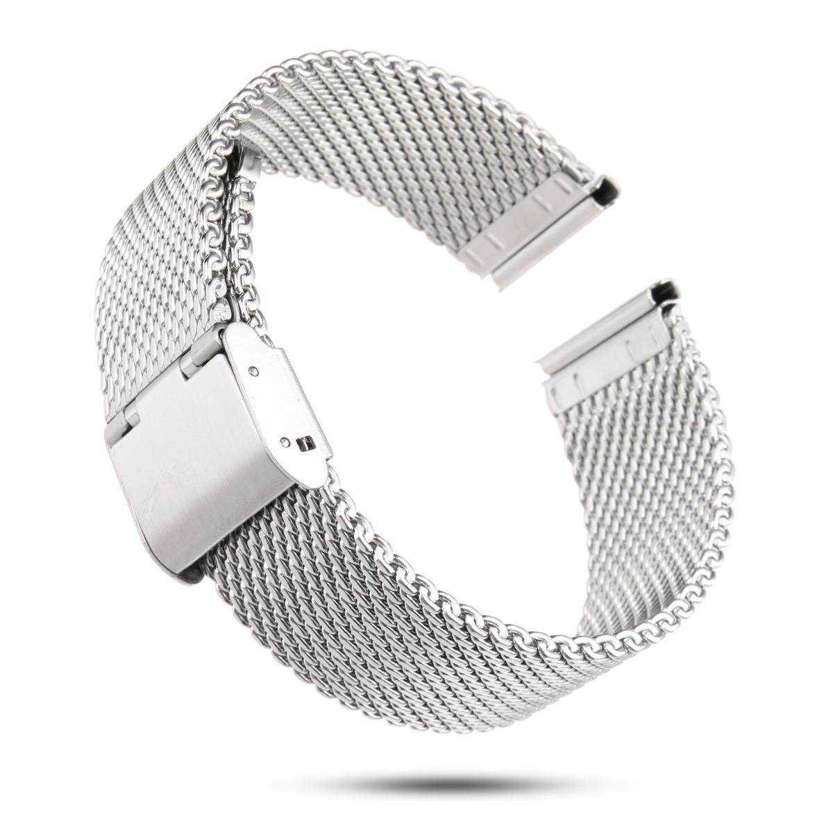 20mm Shark Wire Mesh Bracelet Watch Band Divers Strap For Seiko & Citizen [20mm] By Glimmer.