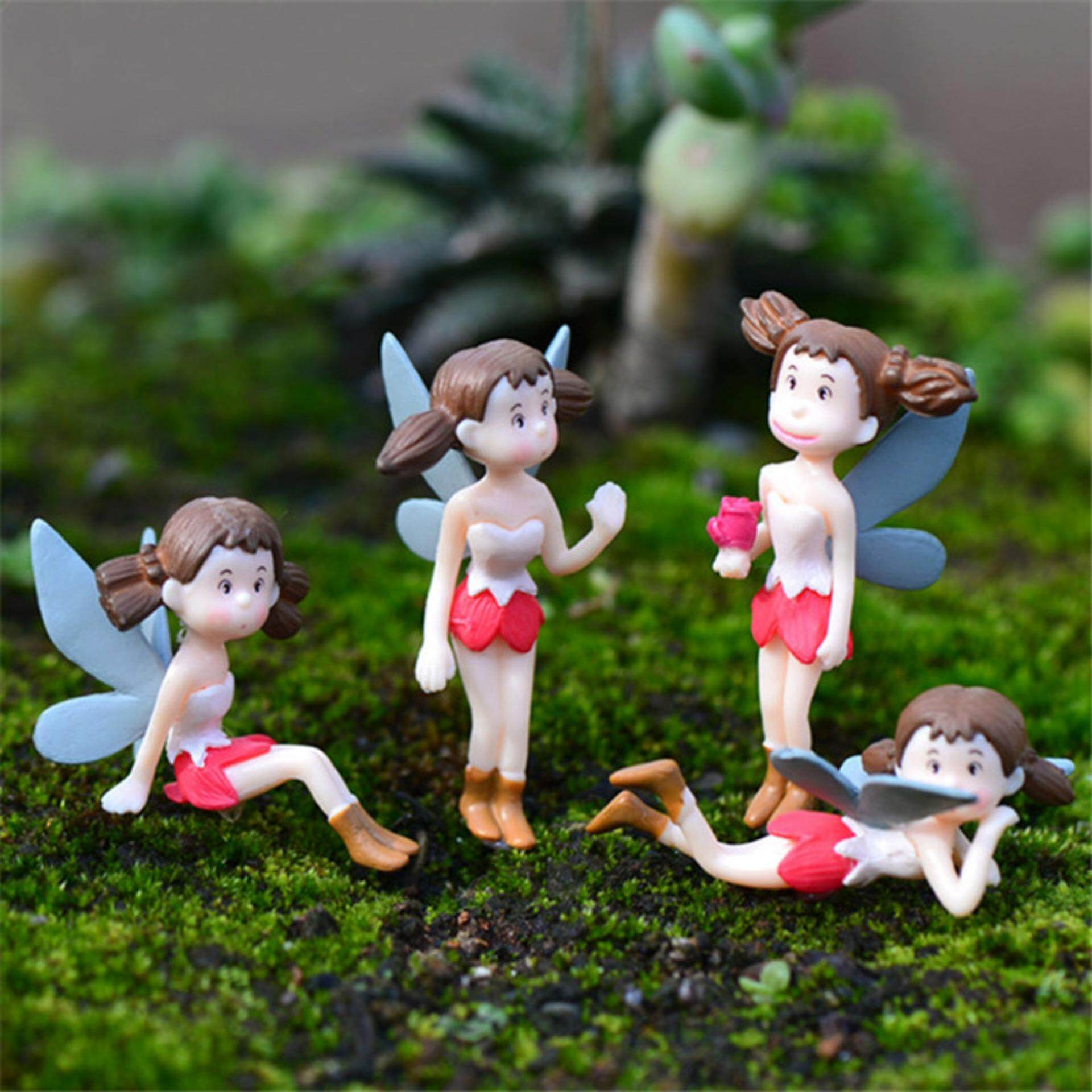 Fairy Garden Figurines Flying girl Resin Crafts Gnomes Moss Terrariums Decorations