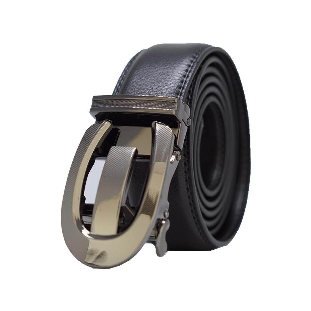 [100% CALF LEATHER] Premium Quality Best Seller MB049 Business Men Leather Belt [BLACK/READY STOCK] - Adjustable Strap for Size S , M , L , XL