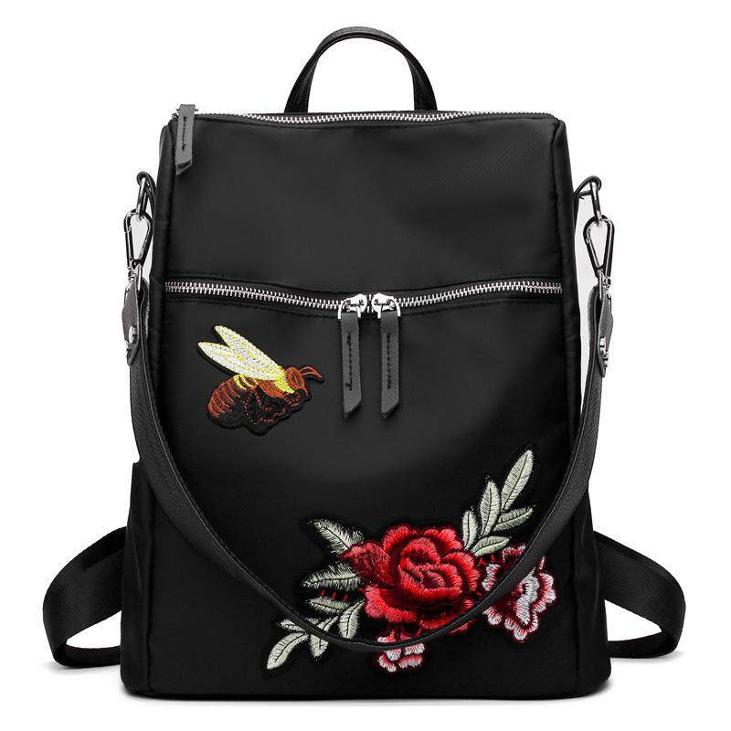 New 3d Embroidery Fashion Ladies Backpack Backpack Shoulder Bag Folk Style Portable Backpack By Dingshengmei.