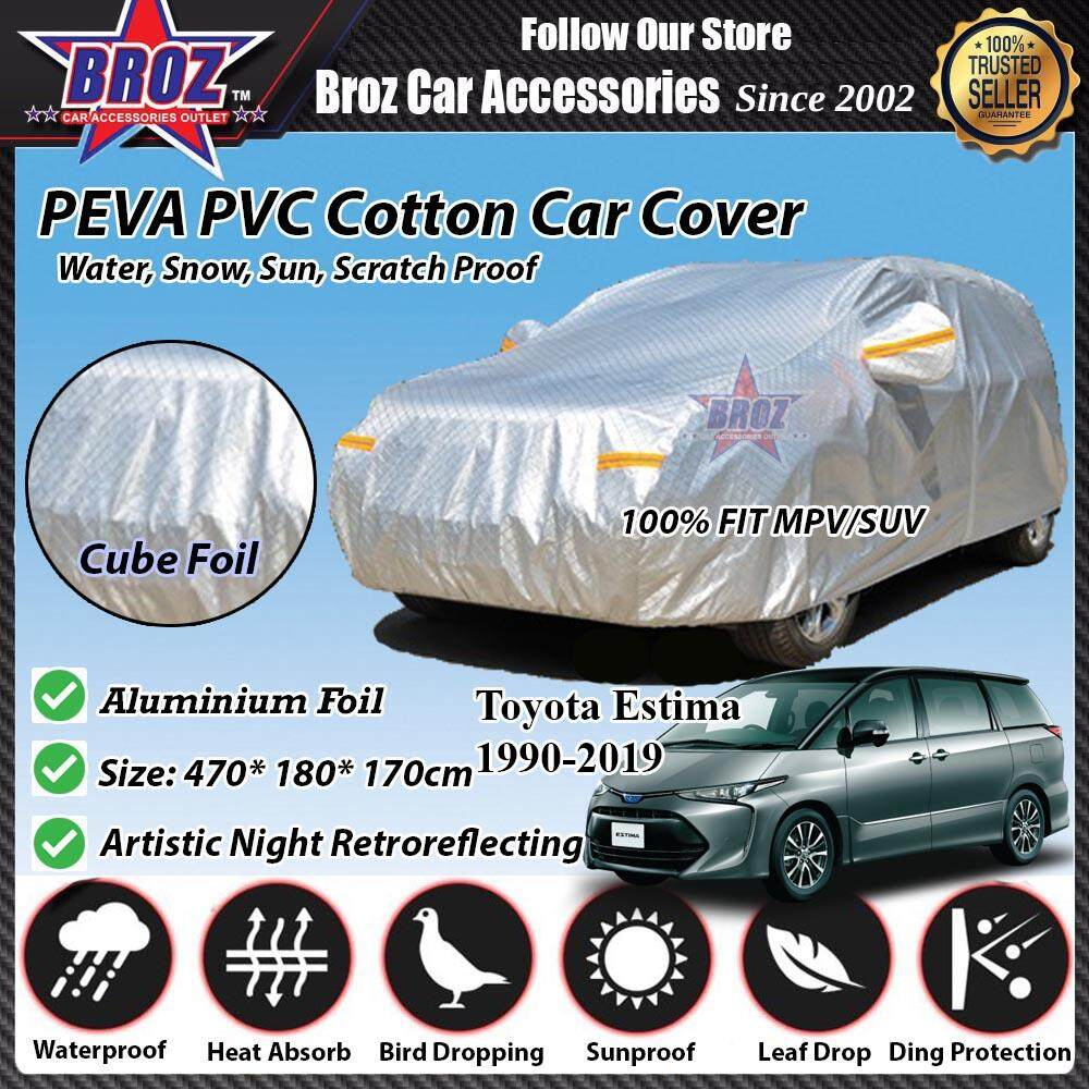 Toyota Estima Car Body Cover PEVA PVC Cotton Aluminium Foil Double Layers - MPV