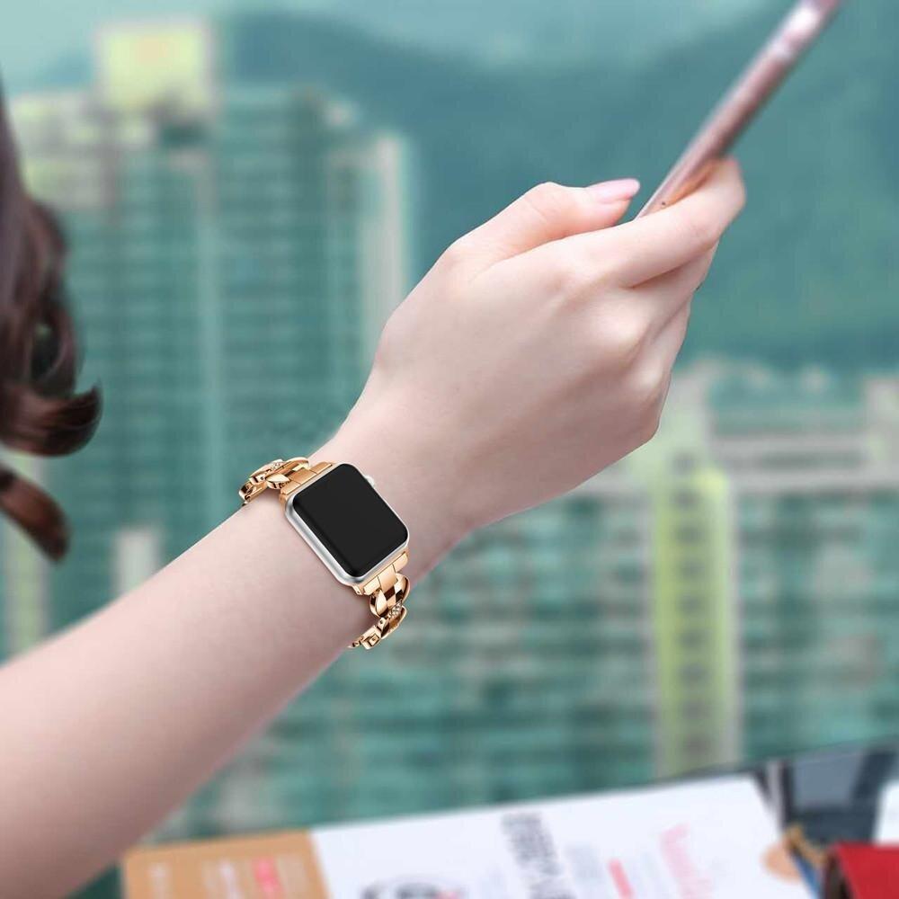 Planiesty Paduan Untaian Kristal Gelang Jam Tangan Tali untuk Apple Watch 38 Mm-Intl