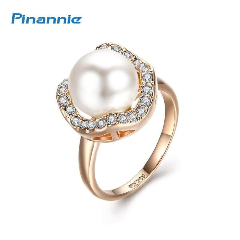 Pinannie Gold Plated Pearl Rings Jewellery for Women Wedding Party Gifts