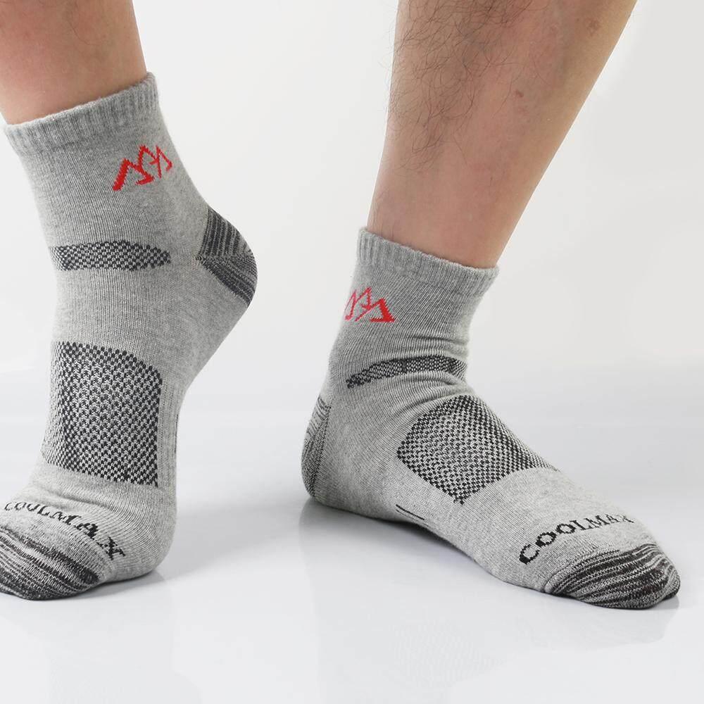 Detail Gambar Men Outdoor Quick Dry Thin Socks Sports Hiking Mountain Hunting Running Socks COOLMAX (Grey) - intl Terbaru