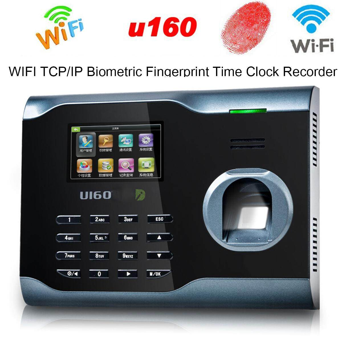 Biometric Fingerprint Attendance Time Clock+ WIFI +TCP/IP +USB, ZKSoftware Brand