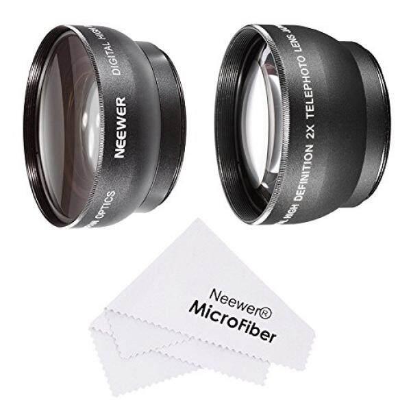 Neewer 52 Mm Lensa Perlengkapan Untuk Nikon DSLR (D7100 D7000 D5200 D5100 D5000 D3300 D3200 D3100 D3000 D90 D80), kit Termasuk: (1) 0.45X Wide Angle Lensa + (1) 2X Telephoto Definisi Tinggi Lensa + (1) Pembersih Mikrofiber Kain-Intl