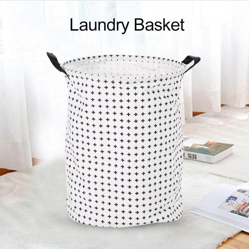 Foldable Standing Storage Bin Bag Kids Toy Clothes Laundry Basket Household Organizer #Crosses - intl