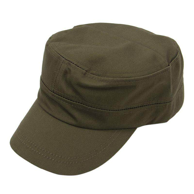 Stylish Plain Military Army Cap Castro Cadet Patrol Cap Hat Adjustable(Army Green) -