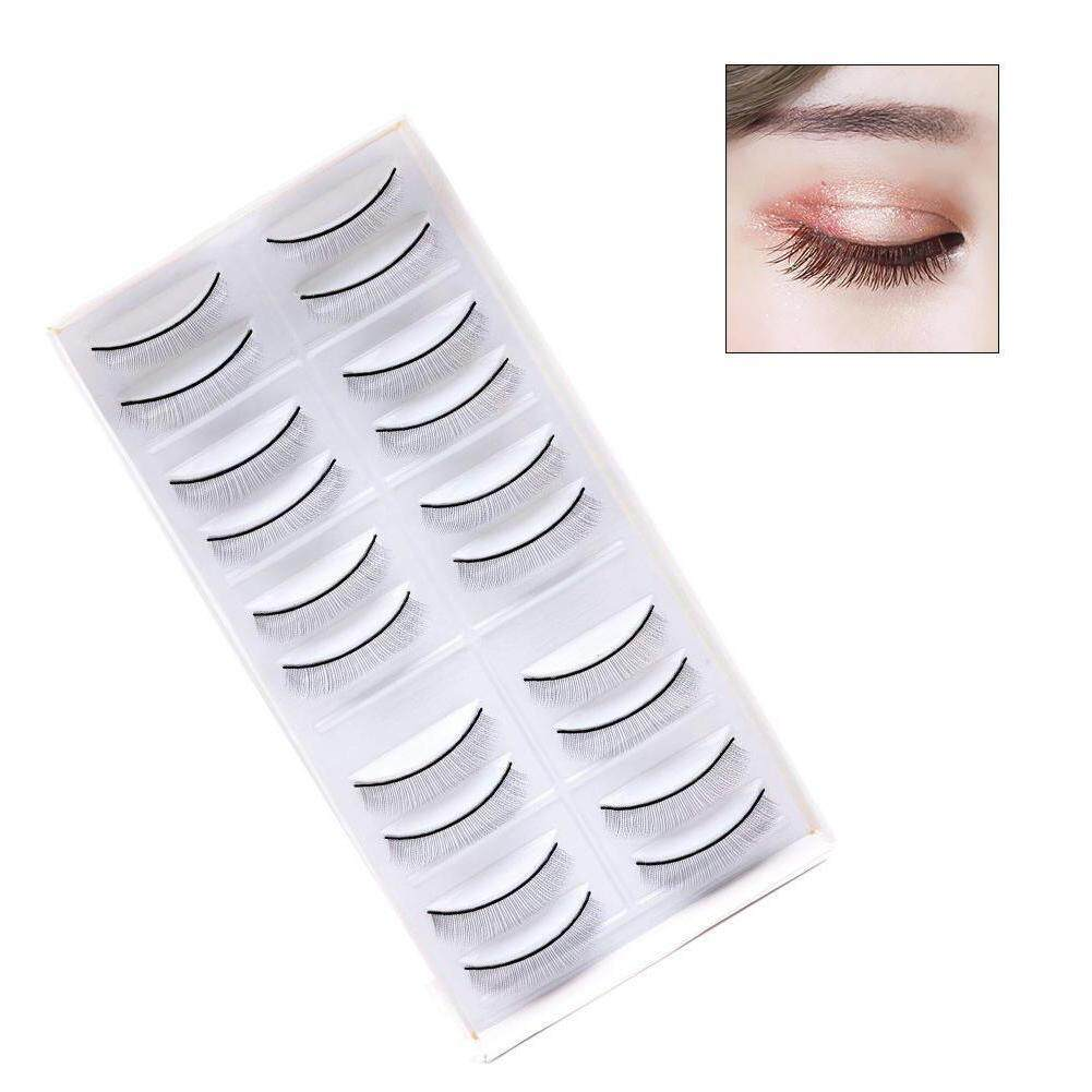 HiQueen 10 Pairs 8mm Eyelash Extension Self-adhesive Practice Lashes Strip Grafted False Eyelashes