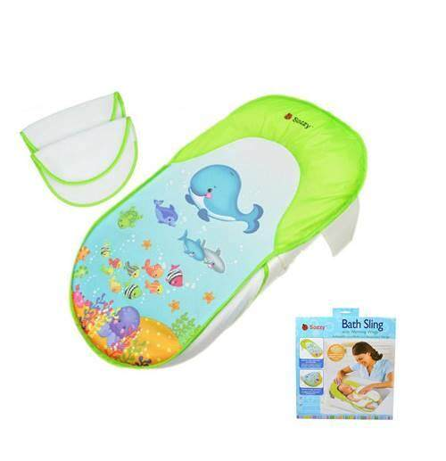 Sozzy Baby or Infant Bath Sling Bed Baby Rocking bed Cot Earthy Multi Function Cradle Bed Table