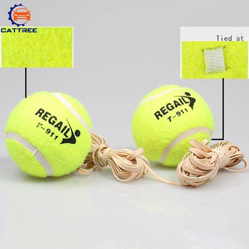 Tennis Ball With Elastic Rubber Rope Beginners Trainer Single Traintool.