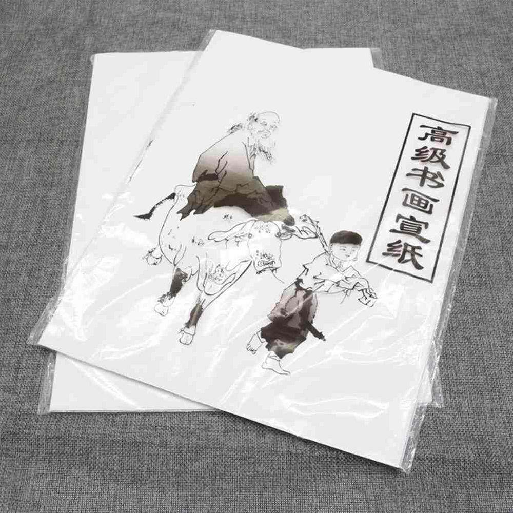 Hình ảnh Airforce NEW 30 sheet white Painting Paper Xuan Paper Rice Paper Chinese Painting and Calligraphy 34.5 * 25.5 cm