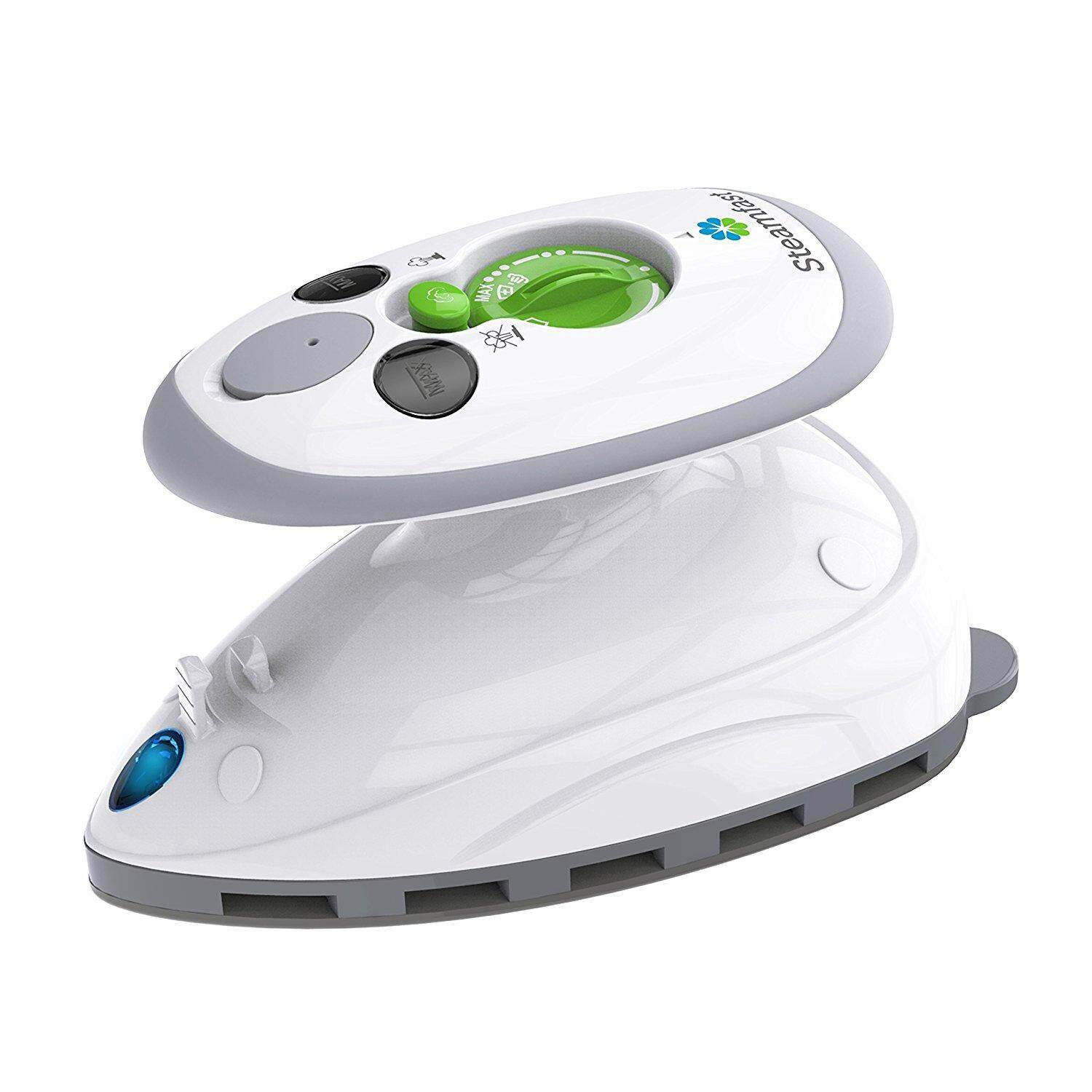Steamfast SF-717 Mini Travel Steam Iron with Dual Voltage, Travel Bag, Non-Stick Soleplate, Anti-Slip Handle, Rapid Heating, 420W Power